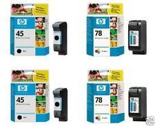 4x ORIGINAL cartuchos HP Officejet G55 G85 G95 K60 K80/45 + 78 tinta NUEVO