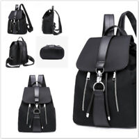 Women's Faux Leather Backpack Anti-Theft Rucksack School Shoulder Bag Satche@xq