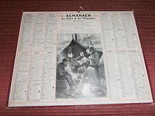 CALENDRIER DES POSTES  ALMANACH GUERRE BATEAUX MARIN PÊCHE  1914   ( ref 17 )