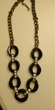 Chain Statement Necklace. Free Shipping Nwot J. Crew Black, Rhinestone