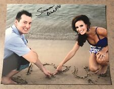 Samantha Sam Busch Signed Kyle 8x10 Photo Auto Autograph NASCAR