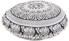 "Elephant Mandala Cushion Cover 32"" Meditation Pillow Cases Large Floor Pillows"