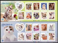 Japan 2016 Katzen Cats Haustiere Pets Kleinbögen MNH