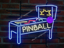 New Pinball Game Room BEER BAR Pub REAL NEON POSTER LIGHT SIGN Free Ship
