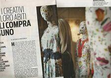 SP16 Clipping-Ritaglio 2012 Frida Giannini Fanno i creativi e poi i loro abiti..
