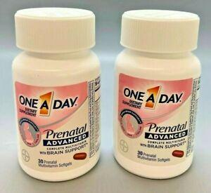 One A Day Prenatal ADVANCED Women's Multivitamin 30 gels 2PK Exp 1/22+