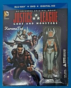 Justice League Gods & Monsters Blu-ray Limited Edition Gift Set With Figure NEW