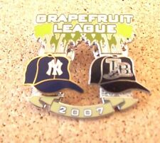 2007 NY New York Yankees vs Tampa Bay Rays Spring Training Grapefruit League pin