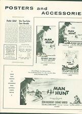1958 Man Hunt pressbook Don Murray Fritz Lang Dennis Hopper Chill Wells