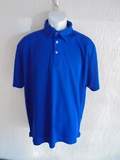 NWT Wrangler Short Sleeve Cool Vantage Premium Polo Shirt for Men Royal Blue XL