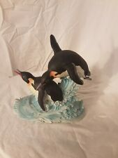 "New ListingAndrea by Sadek porcelain bird figurine ""penguins"" hand signed"