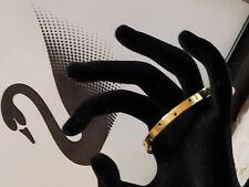 Swarovski Signed Silver-tone Bangle Bracelet w/ Pave Crystal Rhinestone Accents