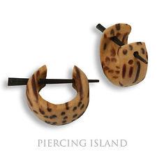 Kleine Holz Ohrringe Goa Creolen Wood Piercing Style Schmuck ER261