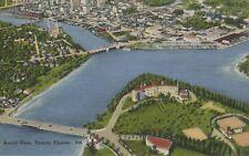 Aerial View Tampa FL Florida Fla Vintage Linen Postcard