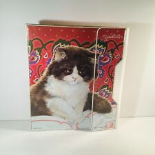 Vintage Mead  1991 Sophisticats 3 Ring-binder with 2 Folders