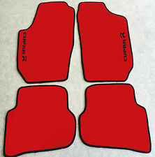 Autoteppiche Fußmatten für Seat Ibiza 6L Cupra R rot schwarz 2002-09 Neu Velours