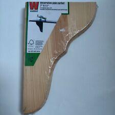 BNIP Waddell Decorative Pine Corbel Shelf Bracket 7x11 w/ Hardware Shelf Series