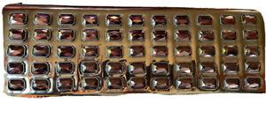 Steve Madden Metallic Bronze Patent Leather Jeweled Clutch Evening Bag Shiny EUC