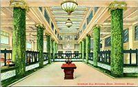 Vtg Postcard 1910s Spokane Washington WA - Old National Bank Interior Unused UNP