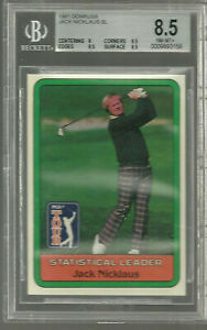 1981 Donruss Statistical Leader Jack Nicklaus BGS 8.5 9.5 X 3 Near  Mint RC  9