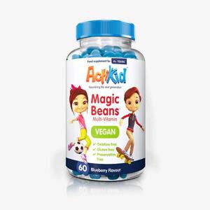 ActiKid Vegan Multi Vitamins Blueberry Flavour 60 Beans