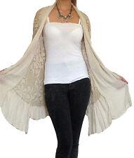 Ladies Cardigans Womens Long Top Sleeve Open Bolero Crochet New Size 8 10 12 14