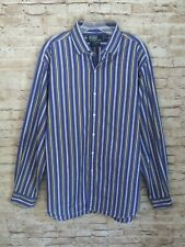 POLO RALPH LAUREN 17 XL Regent Classic Fit Striped Button Front Striped Shirt