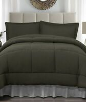 Forest Green Twin Size Jersey Comforter & Pillow Sham Bed 2-Pc Set