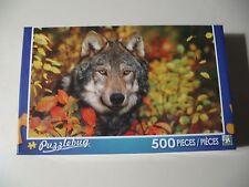 500 pc Puzzle, Puzzlebug: Autumn Gray Wolf (Brand New & Sealed