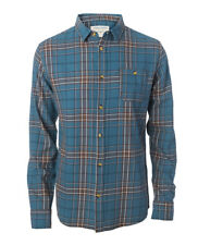 Rip Curl Indian Teal Faded Check Long Sleeved Shirt