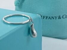 Auth. Tiffany & Co. Silver Sterling Elsa Peretti Teardrop Ring Size 4.5 w/ Pouch