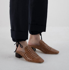 Miista Ida mules slip on woven leather Shoes in brown size EU 39 / UK 6