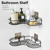 Iron Kitchen Bathroom Shower Shelf Suction Basket Caddy Rack Wall Mounted