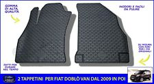 Tappetini  tappeti Fiat Doblo 2016 set antiscivolo auto in gomma specifici per