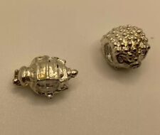 2 Silver Beads/charms- Bumble Bee And Hedgehog