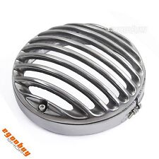 "5.75"" CNC Aluminum Chrome Headlight Grill Cover For Harley Touring Sportster XL"
