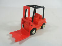 VINTAGE 1970'S ORANGE MINI TONKA FORKLIFT VEHICLE CHILDREN'S TOY RETRO DECOR
