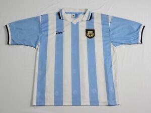 Argentina Team Jersey Home football shirt 1999 - 2000 Reebok Camiseta Mens SZ XL
