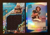 2017 Alvin Kamara Rookie Prizm Panini Monumental Neon Blue /99 + Optic Silver💎