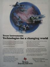 9/1991 PUB TEXAS INSTRUMENTS DSEG DEFENSE ELECTRONICS NAVY ARMY AIR FORCE AD