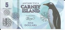 CARNEY ISLAND ANTARTIDA 5 DOLLARS 2016