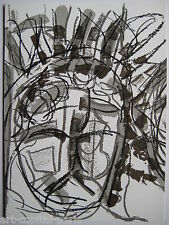RIOPELLE JEAN PAUL 2 LITHOGRAPHIES ORIGINALES DLM N208 1974 2 LITHOGRAPHS QUÉBEC