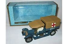 MATCHBOX - MODELS OF YESTERYEAR Y-13 CROSSLEY RAF Tender blue body brown canopy