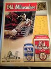 """Old Milwaukee Beer Posters - """"Beer Built Right""""  NOS FREE SHIPPING"""
