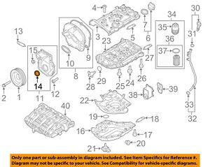 VW VOLKSWAGEN OEM 09-15 Eos-Engine Crankshaft Crank Seal 06L103085B