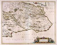 MAP ANTIQUE BLAEU SCOTLAND 1654 EAST FIFE OLD LARGE REPLICA POSTER PRINT PAM0593