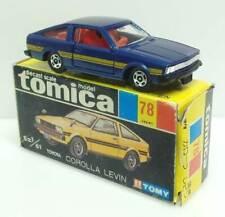 Alter TOMICA 1/61 - Nr.78 (JP) Toyota Corolla Levin (blaumetallic) - mit OVP