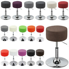 Lot de 2 Tabouret de bar cuisine Chaises en Cuir synthétique/Lin réglable f001