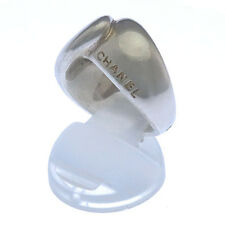 CHANEL Ring with logo unisex Authentic Used Y2826