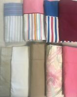 Springs Twin Size Flat sheets striped solid or floral Blue Pink White Tan